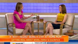 Grown and Flown on the TODAY Show talking about stay-at-home-mom regrets