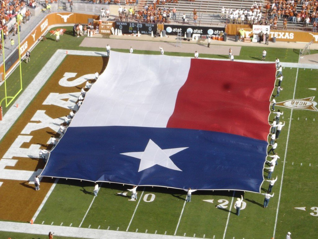 Longhorn football, Texas state flag