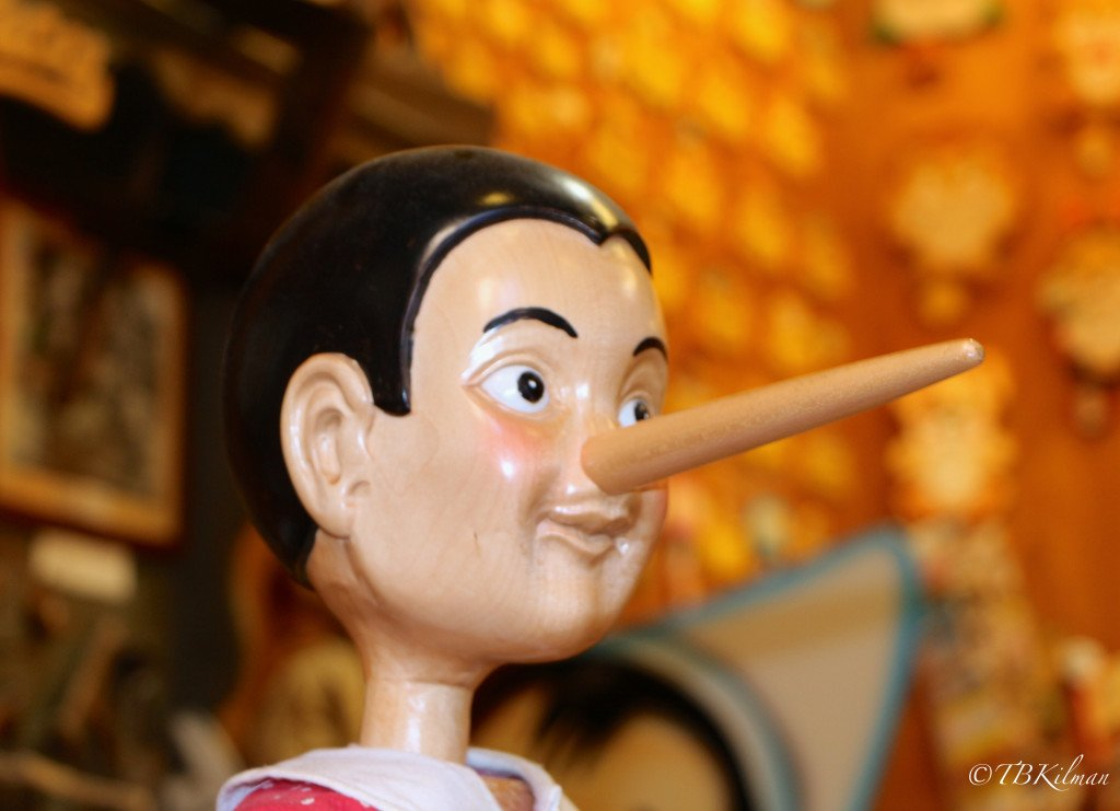 Pinocchio, cheating at school