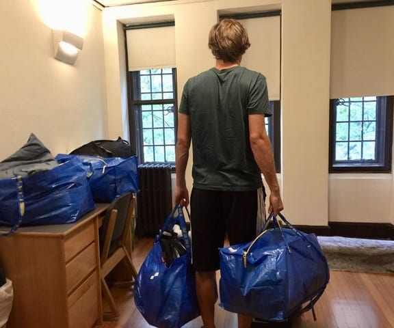 Moving out of a college dorm