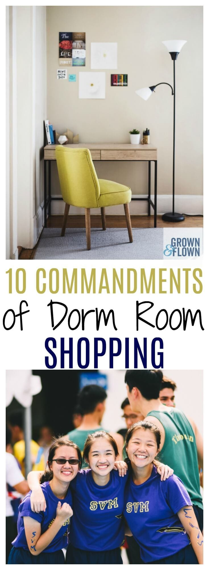 If you're going shopping for your teens new dorm room, there are some rules that you need to follow to save money! We've been there and done that and have all the tips and tricks to help you make your dorm room shopping trip a success. Just follow these dorm shopping ideas, and you'll be set for success. #dormroom #shopping #teens #collegelife #diydorm #dormroomorganization #organization #collegetips #dormtricks #dormdecor