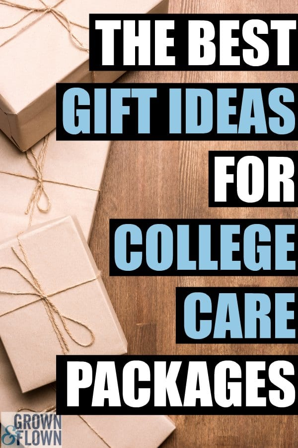 If you are looking for gift ideas for college care packages, you'll want to save this list. Full of great ideas for college students and gift ideas for teenagers that they will love while away at college. #college #parenting #carepackageideas #carepackages #giftideas #collegekids