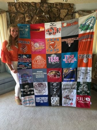 t-shirt quilt and teen girl
