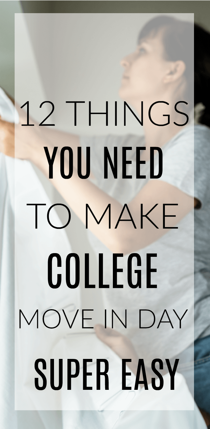 These college move in day hacks, tips, and tricks will save your life on the big day. When you're moving your teen into their first college apartment or dorm, you'll want these 12 things to make it so much easier. #college #dorm #collegelife #dormlife #moving #movinday #collegedormideas #teens #teenagers