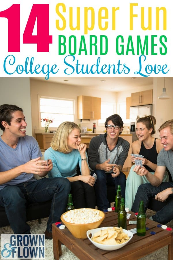 If you're looking for some fun college games that your student will love to play on campus with friends, these 14 super fun board games make perfect gift ideas for your college kid and are surprisingly popular with college students. #college #collegelife #boardgames #giftideas #collegegiftideas #games #college