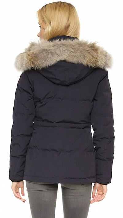 Popular winter coats, hats and gloves