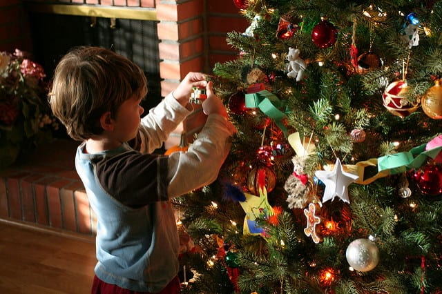 My 6 Sons Always Help Decorate The Christmas Tree But Not