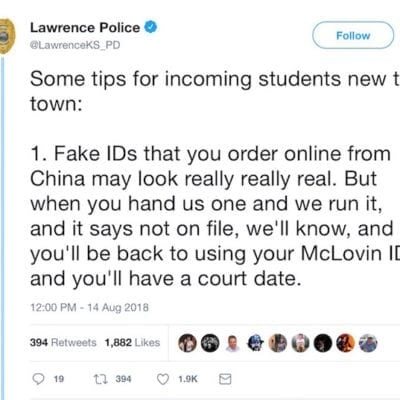 When the KU Kids Come to Town Here is What the Lawrence Police Have to Say