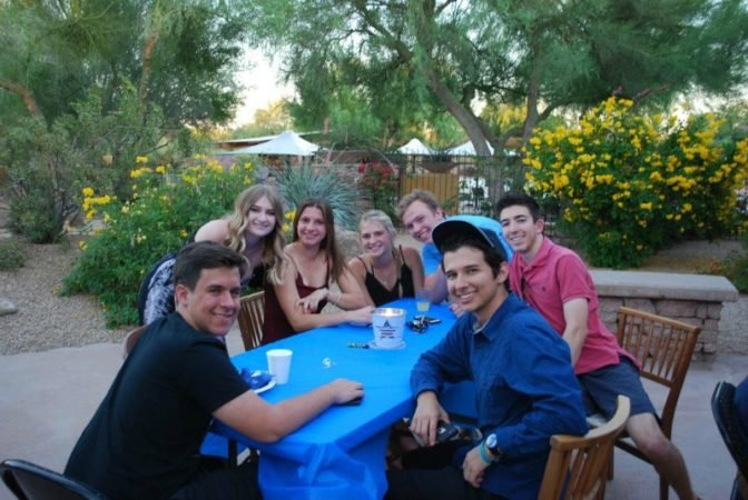 group grad party