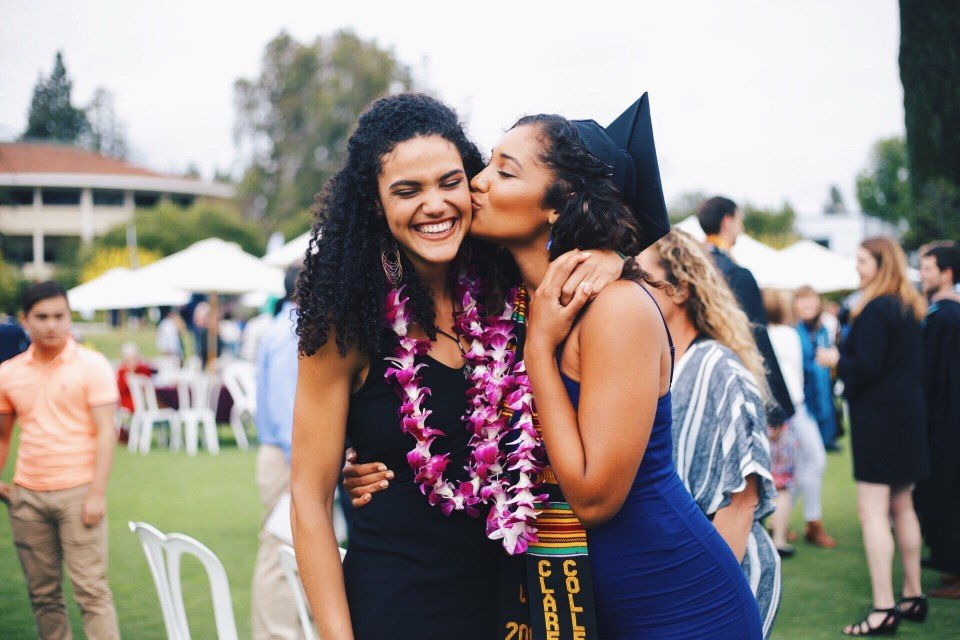 two girl college grads