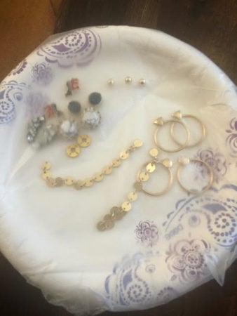 jewelry on plate