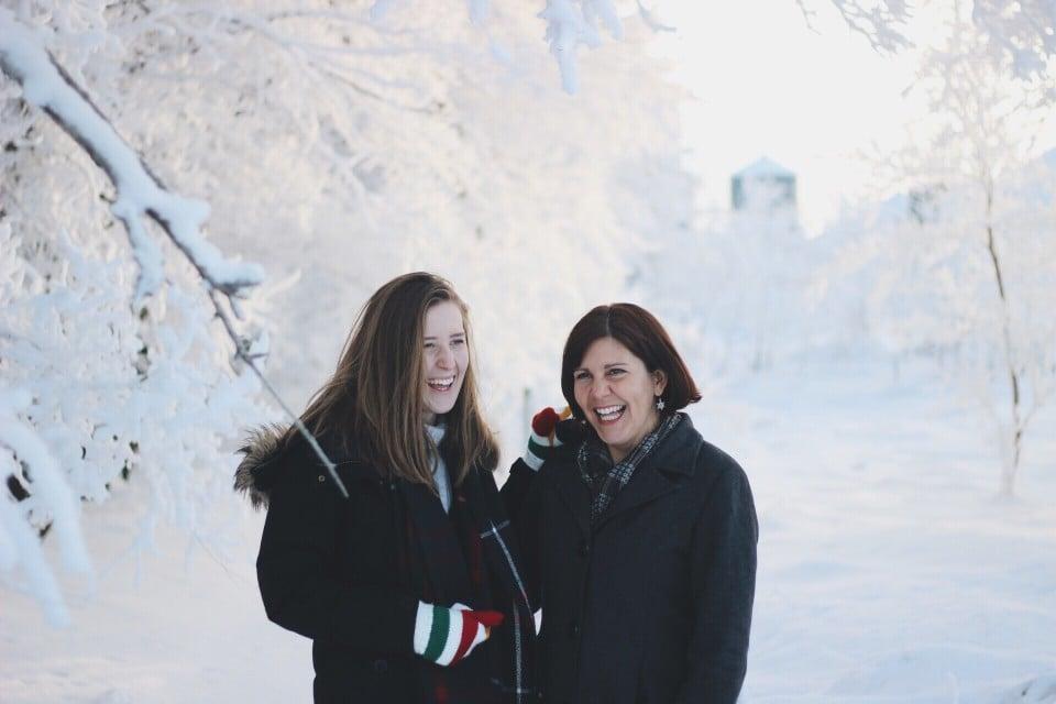 monad daughter at Christmas