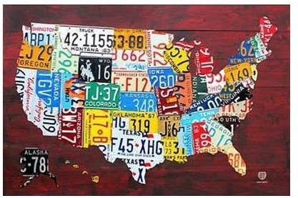 state license plate poster