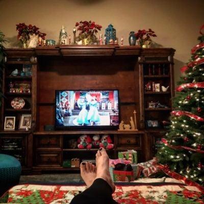 Watching Christmas movies on TV