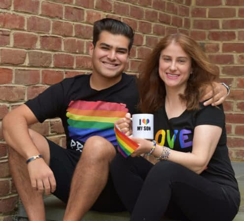 mom and son pride month