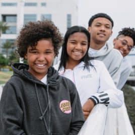 4 Black teens on campus