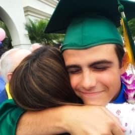 teen hugging mom
