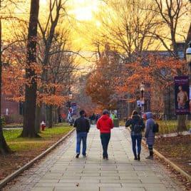 students walking at Princeton
