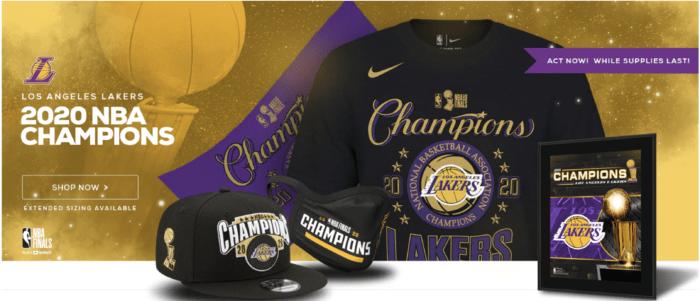LA Lakers Championship Gear